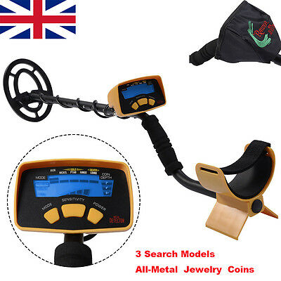 Metal Detector Device LCD Screen Treasure Deep Hunting Power Coil Target W/Cover