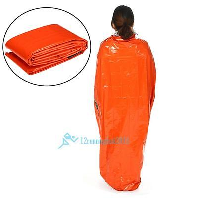 Orange Space Blanket Emergency Survival Blanket Thermal Rescue First Aid Bag Uk