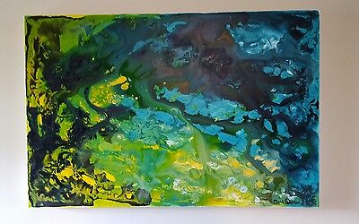 CHANGE OF SEASON 77 x 52cm Original Painting Abstract Art  by Maria
