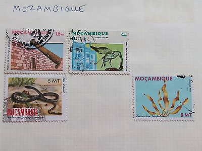 Mozambique 4 ASSORTED LARGE HORIZONTAL USED STAMPS **GC**