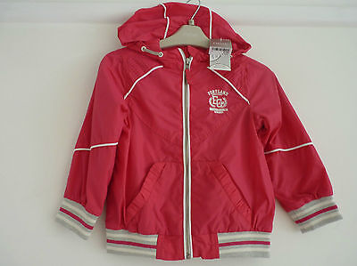 BNWT NEXT Girls Shower Resistant Pink Hooded Coat, Size 3-4 yrs, Brand New!