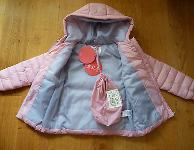 BNWT M&S Super Light Hooded Coat in Beautiful Pale Pink Size 4-5 yrs, Brand New!