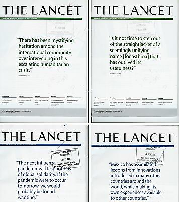 Lancet  Magazines. x4 from Aug/Sept 2006. Nos. 9535,9537,9538,9539.