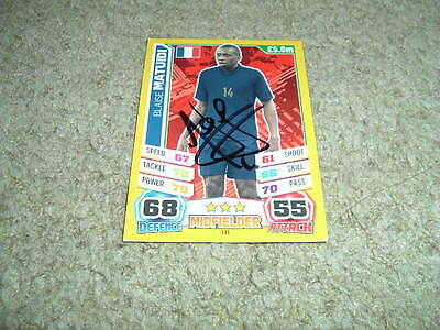 Blaise Matuidi - France - Signed Match Attax 2014 World Cup Trade Card