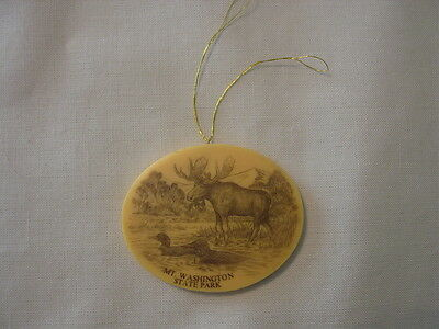 Resin or Plastic Mt Washington State Park NH Moose Duck Christmas Ornament