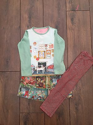 Gorgeous Girls Oilily Top, Skirt And Leggings Age 5
