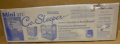 Mini Arc Co Sleeper Bedside Bassinet By Arms Reach In Toffee Brand New In Box
