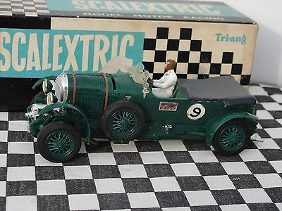 Scalextric 1960's Bentley Mm/c64  #9 Green  1.32  Used Boxed