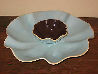 Beautiful Southern Living At Home Catalina Chip & Dip Set Serving Blue Brown