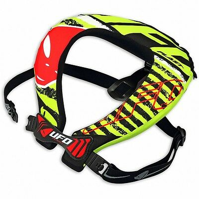 UFO Adult Bulldog Neck Brace Support Motocross Quad with strap supports