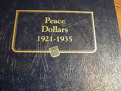 1921 - 1935 almost complete Peace dollar VG - AU+ missing 1928 only