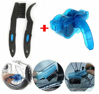 Cycling Bike Bicycle 3D Chain Cleaner Machine Brush Scrubber Quick Cleaning Tool