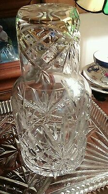 cut glass/crystal decanter and glass