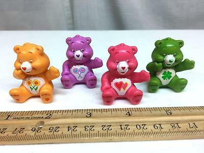 CARE BEARS Figures Lot of 4 - FRIENDSHIP, LUCKY, LOVE a LOT, SHARE Bears