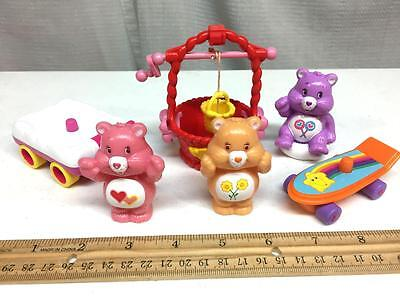 CARE BEARS Figures Accessories Lot FRIENDSHIP LOVE a LOT SHARE BEAR Wishing Well