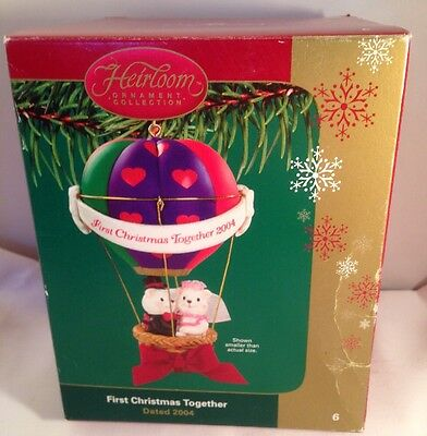 Heirloom Ornament Collection Carlton Cards  First Christmas Together..2004
