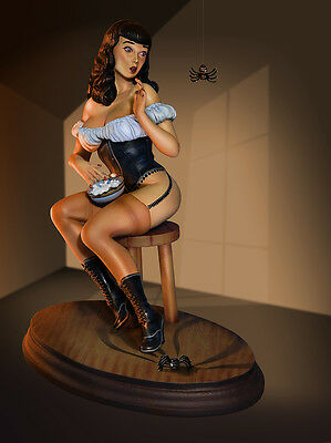 Miss Muffet Prepainted Statue (Betty Page)