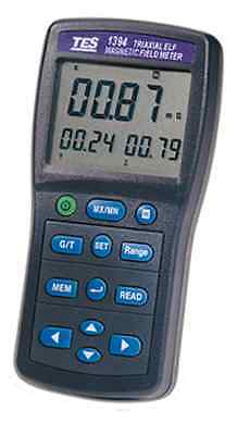 TES TES-1394 Magnetic Field Tester. Measure Home Appliances, Power Lines & More