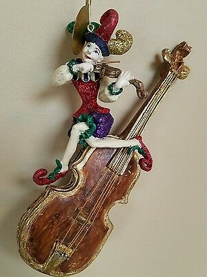 36) katherines collection retired jester ornament violin