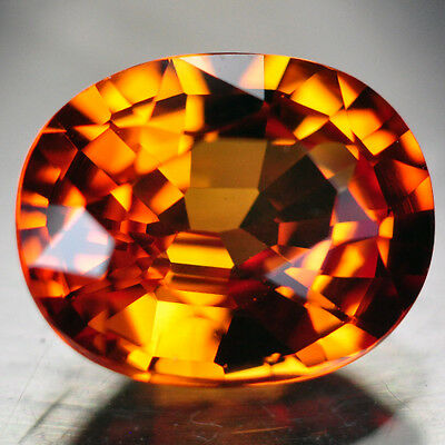 6.40ct.AWESOME ORANGE GOLD SAPPHIRE LOOSE GEMSTONE