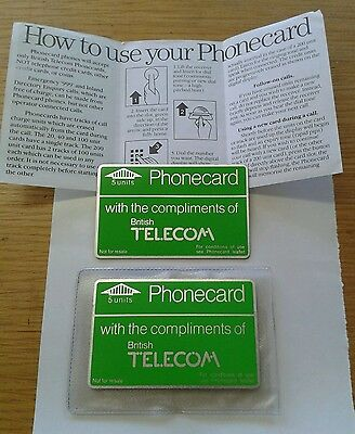 BT Phonecard 5 Units x 2, With sleeve and instructions