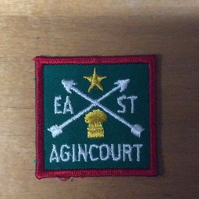 Scout Of Canada Ontario East Agincourt District Patch New