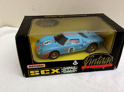 MATCHBOX / SCX 1/32 Slot Car -  Ford GT40  #6    BOXED
