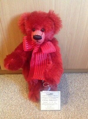 Dean's Limited Edition Bear, 'Cherry bakewell' 4/30 New With Tags 12""
