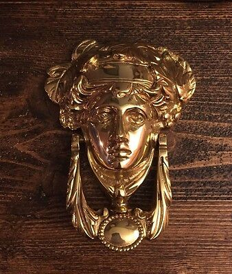 Solid Brass Lady Door Knocker/House/Victorian Style/Ornate/Heavy/High Quality