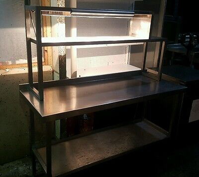 Stainless Steel Catering Table With Heated Gantry Pass