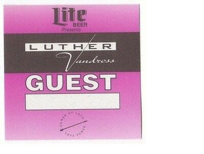 LUTER VANDROSS PASS backstage tour satin cloth GUEST collectible purple