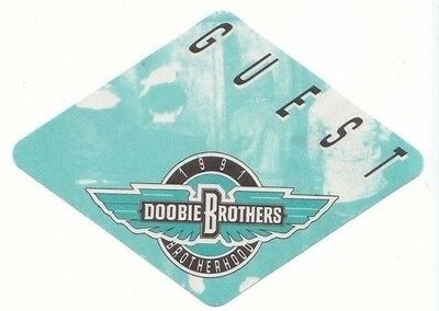 DOOBIE BROTHERS PASS backstage tour satin cloth GUEST 91 collectible