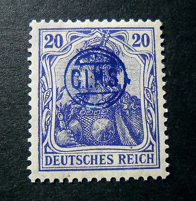 """GERMANIA,GERMANY D.REICH PLEBISCITO 1920 OVP """" C.I.H.S."""" 20 c. MH RARE Signed"""