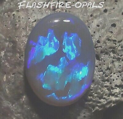 9,4ct.. RIESEN GEM BLACK/NOBBY OPAL ROYAL BLAU/LILA  FLASH Video FLASHFIRE-OPALS