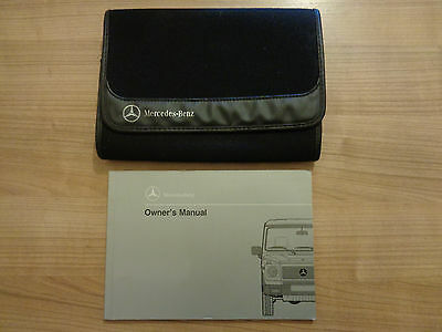 Mercedes G Wagon Owners Handbook Manual and Wallet