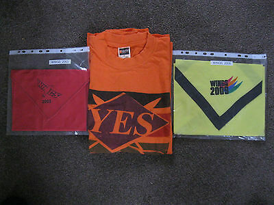 Wings 2003 and 2009 Camp Scarves and Teeshirt