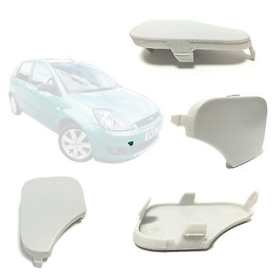 Front Bumper Tow Towing Eye Cover For Ford Fiesta Mk6, 6S6117A989Aa