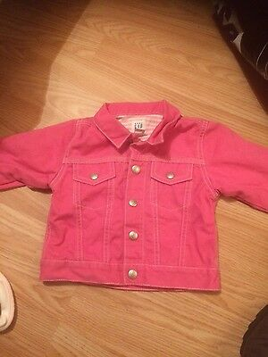 girls pink denim baby GAP jacket 6-12 months