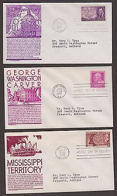 5 First Day Covers Stephen Anderson Cachets 946 953 955 958 960