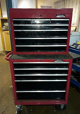 halfords top box and roll cab - toolbox - tool box