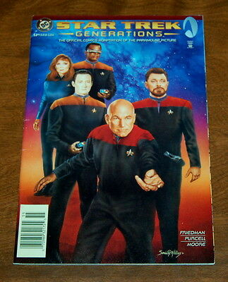Star Trek: Generations Official Movie Adaptation Movie DC Comics 1994 VF-/VF