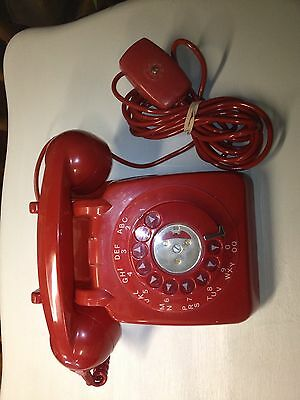 Vintage GPO 706L Red Dial Telephone.