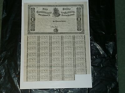 Confederate States of America, $1000 Bond, 1864, Ball-360, With 39 Coupons