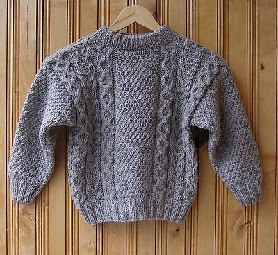 Boys brown cable sweater, 4 to 5 years handmade Boys clothing Knit sweater