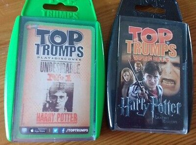 HARRY POTTER Top Trumps x2 Deathly Hallows & Undesirable No 1