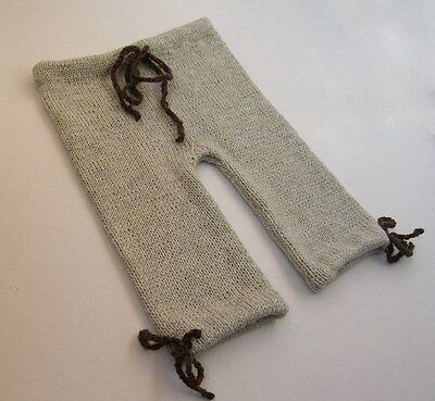 Knitted pants for baby, gray wool pants for baby, woolen knitted pants for kids