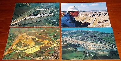4 Channel Tunnel Advertising Postcards