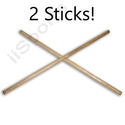 "2  Escrima Kali Arnis Light Rattan Fighting Thin SPEED Sticks 28"" x 3/4"" skinny"