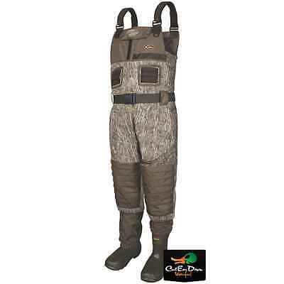 Drake Waterfowl Mst Breathable Chest Waders Insulated Bottomland Camo Size 10