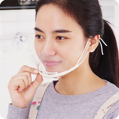 10PCS Transparent Catering Mask Anti Fog Catering Food Hotel Kitchen